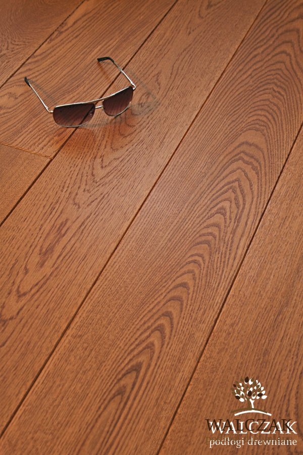 Holzdiele Eiche Farbe Mahagoni L21 Glatt Lackierte Bretter